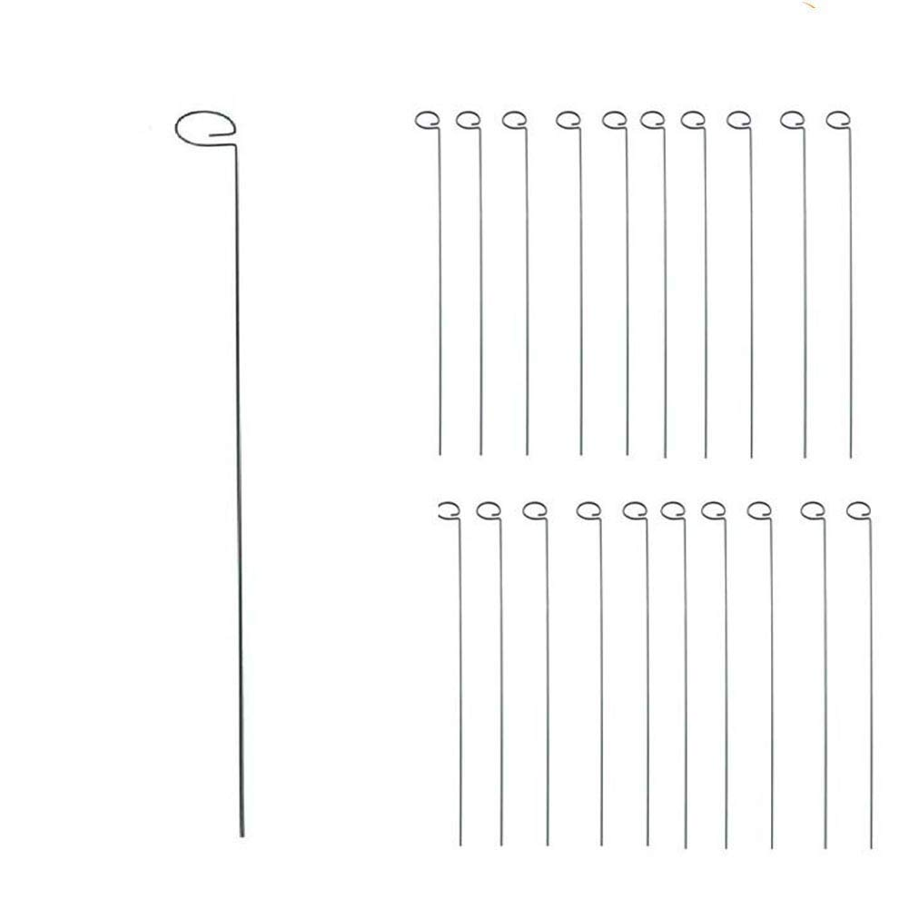 Tingyuan 24 Inches Single Stem Plant Support Stakes Steel Garden Stakes, Pack of 20