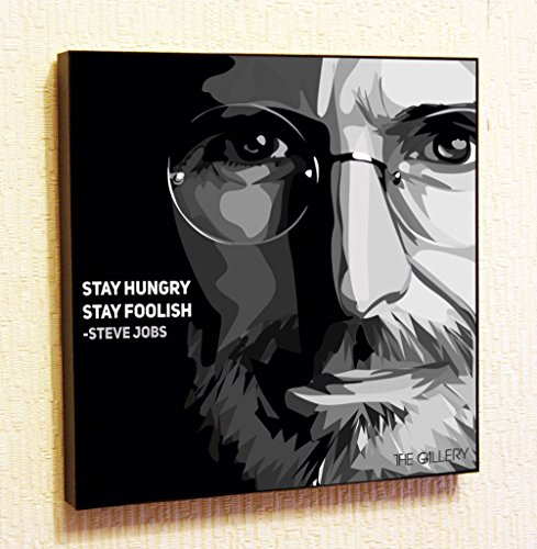 Steve Jobs #2 Apple Iphone Decor Motivational Quotes Wall Decals Pop Art Gifts Portrait Framed Famous Paintings on Acrylic Canvas Poster Prints Artwork Geek (10x10 (25.4cm x 25.4cm))