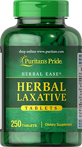 025077303304 - Puritan's Pride Herbal Laxative-250 Tablets carousel main 0