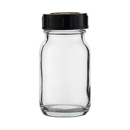 6 x weithals Botella 100 ml Transparente Cristal Con Cierre De Rosca Con Junta (*