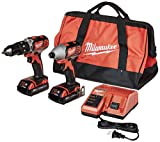 Milwaukee 2697-22CT M18 18-Volt Lithium-Ion Cordless Hammer Drill/Impact Driver Combo...