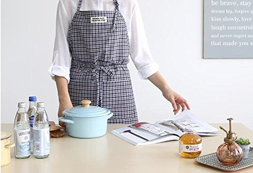 Cozymom Japanese Style Cross-front Smock Natural Apron-black Check (Check Smock)