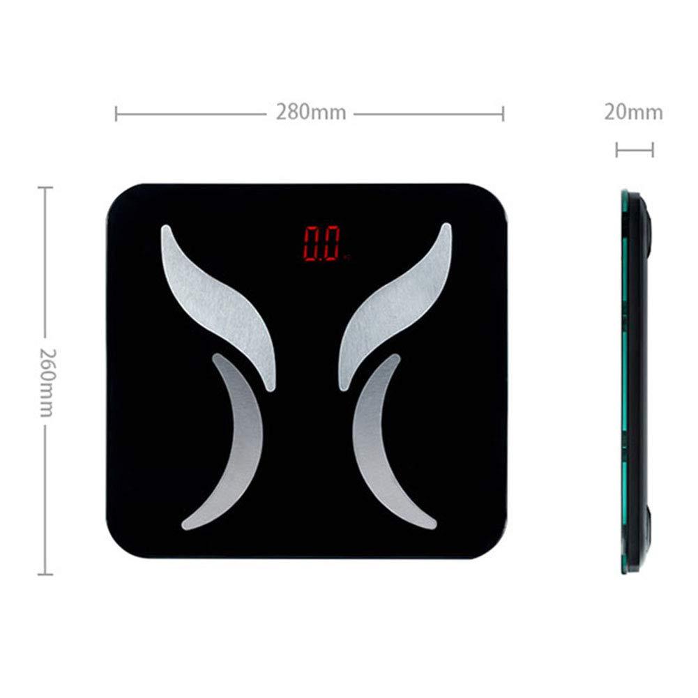 L&J Alta Precisa Báscula De Baño Digital,Báscula Bluetooth Inteligente Grasa Corporal Báscula Báscula Electrónica Capacidad De 150 Kg Gran Plataforma De ...