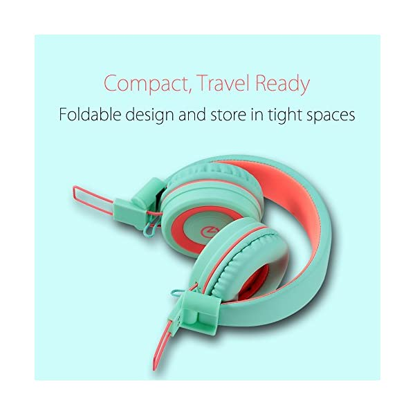 Kids Headphones - noot products K11 Foldable Stereo Tangle-Free 3.5 ...