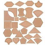 Baoblaze 54 Pieces/Set Mixed Acrylic Patchwork Templates Handmade Quilter Patchwork Tools