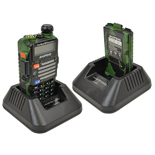Baofeng UV-5R V2+ Dual-Band 136-174/400-480 MHz FM Ham Two-way Radio, Green/Camo