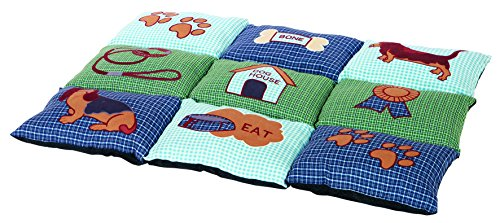 Trixie Pet Products Patchwork Quilted Bed, Blue/Green ()
