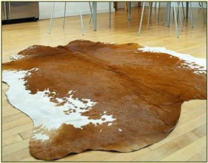 A-STAR Western Brown Cowhide Rug - Best Cow Hides Area Rug (5 x 6 )