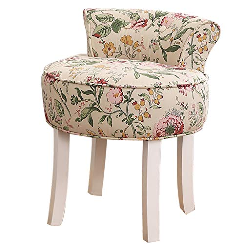 ZDY Shabby Chic Chair/Dressing Stools/Baroque Piano Chair/Makeup Stool/Padded Bench Chair, Solid Wood Legs/Upholstered, for Dressing Room/Living - Bench Shabby