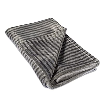 "DII Super Soft Plush Flannel Fleece Stripe Blanket Throw for Chair, Couch, Picnic, Camping, Beach, Everyday Use, 50 x 60 - Gray - MATERIAL: Made of 100% microfiber polyester, this plush blanket is super soft, durable, and lightweight. It's wrinkle and fade resistant, doesn't shed, and is suitable for all seasons. SIZE: The blanket measures 50 x 60"". This plush ultra-soft fleece blanket will keep you comfortable, warm and cozy year round. PRACTICAL CHOICE: Perfect for daily use when watching TV, reading on a couch, lounging chair or bed or a outdoor concerts, sporting events and camping - blankets-throws, bedroom-sheets-comforters, bedroom - 51tx%2BKeh%2BXL. SS400  -"