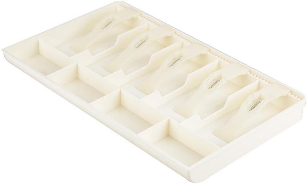 Black MAGT Cash Drawer Portable Five Grids Cash Drawer Register Insert Coin Tray Cashier Tidy Storage Safe Box for Stamps