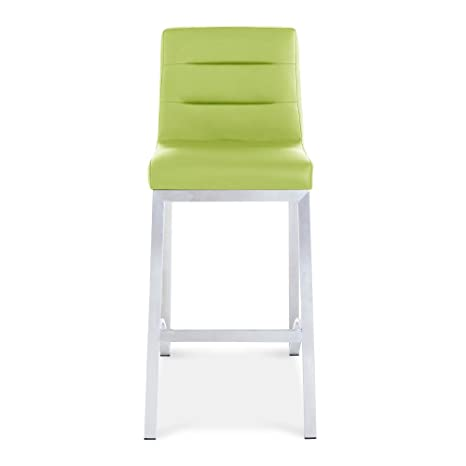 Wondrous Zuri Furniture Lynx Counter Height Contemporary Bar Stool With Metal Base Lime Green Inzonedesignstudio Interior Chair Design Inzonedesignstudiocom