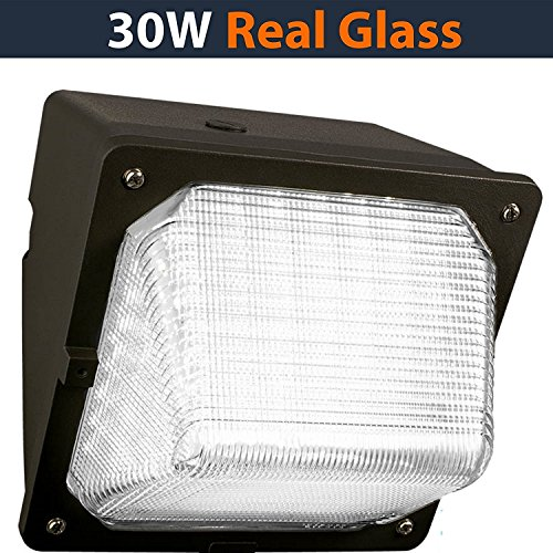 LED Wall-Pack - 30W 5000K Commercial Outdoor Light Fixture ( Out-Door Security Porch Lighting for Out-side ) (Wall Light 50w)