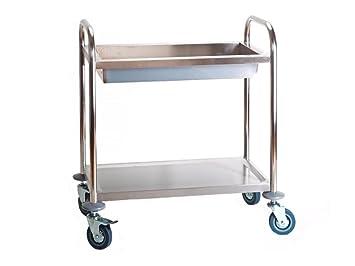 servierwagen beistellwagen küchenwagen rollwagen getränkewagen mit ... - Rollwagen Für Küche