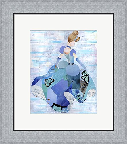 Cinderella by Artpoptart Framed Art Print Wall Picture, Flat Silver Frame, 18 x 20 (Silver Cinderella Frame)