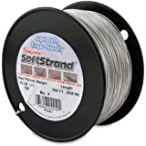 SuperSoftstrand Size 4-850-Feet Picture Wire Vinyl Coated Stranded Stainless Steel