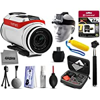 TomTom Bandit 4K HD 16MP Action Camera with 64GB Ultra Memory + Premium Case + Selfie Stick + Head Strap + Floaty Handgrip + MicroSD Card Reader + Cleaning Kit + More