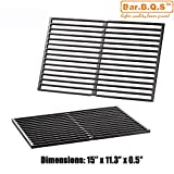 Bar.b.q.s 7522 Cast Iron Cooking Grate For Weber Spirit 200, 500, Genesis Silver A Gas Grill