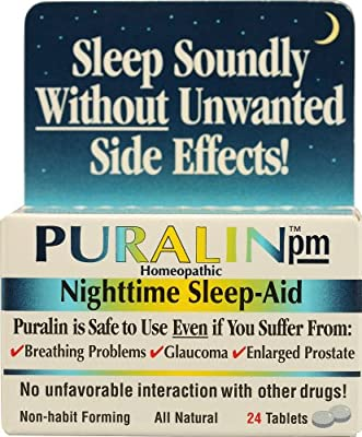 Puralin PM Homeopathic Nighttime Sleep-Aid -- 24 Tablets