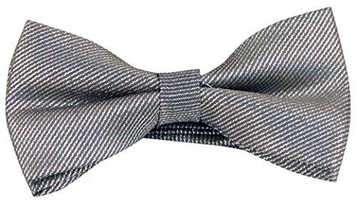 Panegy Mens Adjustable Pre-Tied Jacquard Formal Tuxedo Polyester Neck Bowtie Grey by Panegy