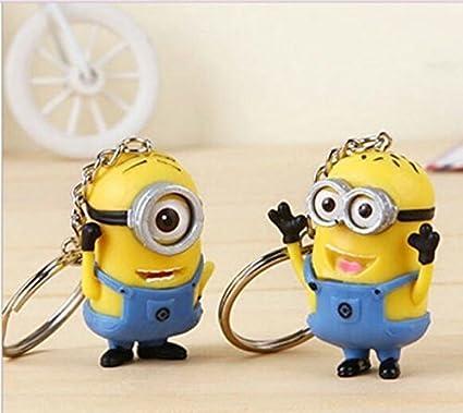 Amazon.com   NEW 2PCS Despicable Me Minion Toy Rubber KeyChain 3D ... df88a4956830