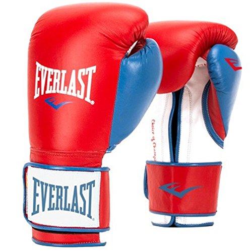 Everlast Men's Powerlock Hook/Loop Gloves, 14 oz, Red/Blue