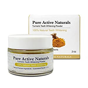 Turmeric Teeth Whitening Powder - All Natural Teeth Whitener - 7 Shades in 7 Days - No Artificial Ingredients - Tumeric - Improve Gum and Oral Health - Charcoal