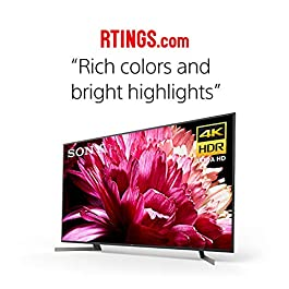Sony XBR85X950G X950G 85 Inch TV: 4K Ultra HD Smart LED TV with HDR and Alexa Compatibility – 2019 Model, Black