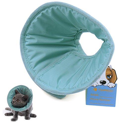 Haustier Kragen Halskrause weich Halskragen für Hund Katze - Blau,25cm/9.84inch