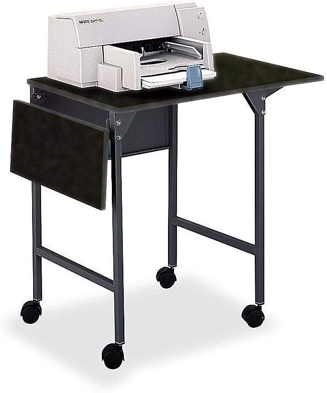 Safco Products Machine Stand/Desk with Drop Leaves, Black
