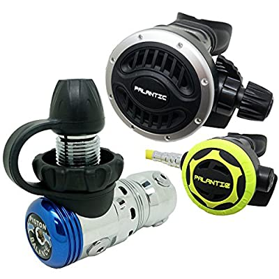 Palantic SCR-02-DIN-AJ-OC Scuba Diving AS103 DIN Adjustable Regulator and Octopus Combo