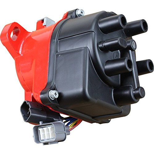 (Dragon Fire High Performance Race Series Complete Electronic Ignition Distributor Compatible Replacement For 1992-1995 Acura Integra 1.8L DOHC Non-VTEC TD-55U TD-46U OBD1 Oem Fit DTD55-DF)