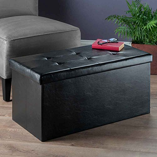 Winsome Wood 20627-WW Furniture Piece Ashford Ottoman with Storage Faux Leather by Winsome Wood (Image #4)