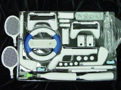 Wii 38 in 1 ATHLETICS Attachement Kit w. Gun + Wheel ()
