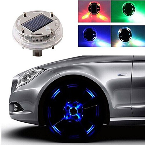 4 Mode 12 LED RGB Car Auto Solar Energy Flash Wheel Tire Light Lamp Decoration