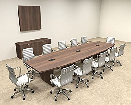 Amazoncom Modern Boat Shaped Feet Conference Table OFCON - 14 foot conference table