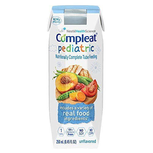 (Nestle Compleat Pediatric Tube Feeding Formula 8 oz Carton Unflavored, 24 per Case *2 Case Special*)