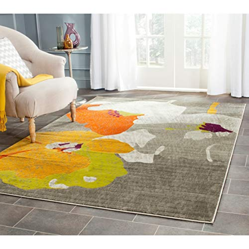 Safavieh Porcello Collection PRL7731D Dark Grey and Ivory Area Rug (8'2