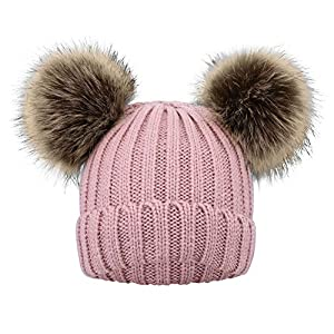 Simplicity Kids Girls Boys Winter Pompom Knit Ski Beanie Hat Cap