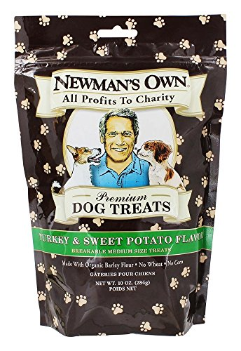 Newman's Own Organic Premium Dog Treats Turkey and Sweet Potato -- 10 (Dog Moisturizing Treats)