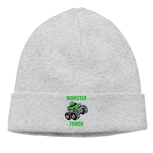 DETED Men&Women Monster Truck Skull Beanie Cap Hat Fall/Winter 2016 (Monster Truck Winter Hat)