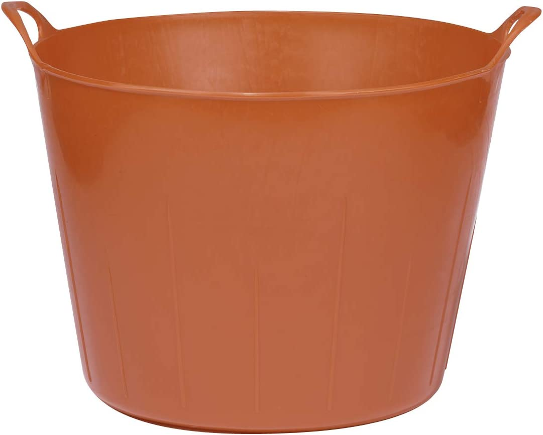 Little Giant Poly/Rubber FlexTub Bucket (Red) Ultra Durable & Versatile Plastic Synthetic Farm Tub (11 Gallons) (Item No. FT11RED)