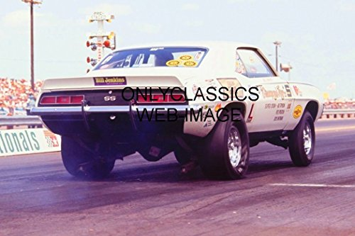 1969 Bill Jenkins Chevrolet Camaro SS PRO Stock Drag Racing Burnout Photo NHRA