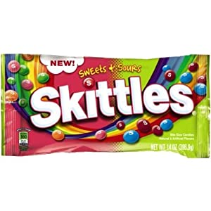 Skittles Sweets and Sours Candy, 14 Ounce -- 12 per case.