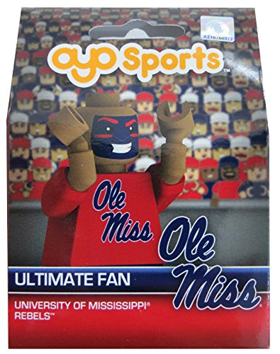 OYO NCAA Mississippi Old Miss Rebels Ultimate Fan Minifigure, Small, Black by OYO