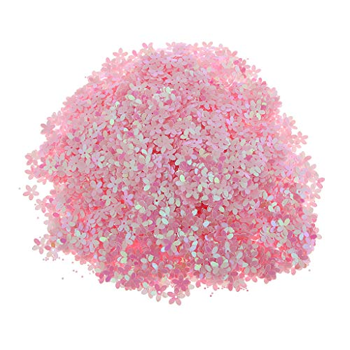 Prettyia 10mm Flower Loose Cupped Sequins PVC Cup Loose Sequins Paillettes for DIY Art Crafts, Embroidery, Embellishment, 100 Gram - B09