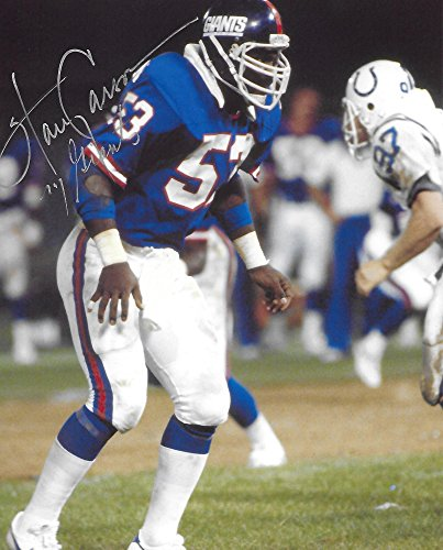 Harry Carson, New York Giants, Signed, Autographed, 8X10 Photo, a COA with the Proof Photo of Harry Signing Will Be Included...