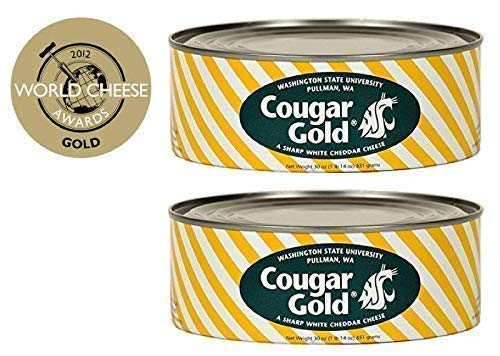 WSU Creamery Wazzu Cougar Gold Sharp White Cheddar Cheese (30oz Can) (2-Can Pack) by Washington State University (Image #4)
