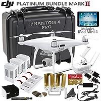DJI Phantom 4 Pro w/ Platinum II Bundle: Includes iPad Mini 4, 3 DJI Phantom 4 Batteries, Go Professional Carrying Case w/ Wheels, SanDisk 64GB Extreme Pro MicroSD Card and more...