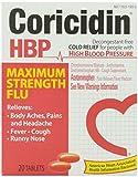 Coricidin High Blood Pressure Maximum Strength Flu Medicine, 20 ct